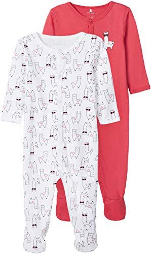 NAME IT Baby-Mädchen NBFNIGHTSUIT 2P W/F Alpaca NOOS Schlafanzug, Claret Red, 68