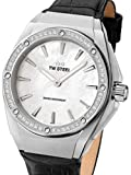 TW Steel Damen Analog Schweizer Quarzwerk Uhr mit Leder Armband CE4027