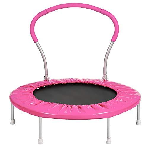 LZZJ 4 Color Mini Trampoline Fitness Interior Bungee Cebounder Saltando Deportes Deportes Niños Entrenamiento de Salto Entrenador Entrenamiento para Interiores (Color : Pink)