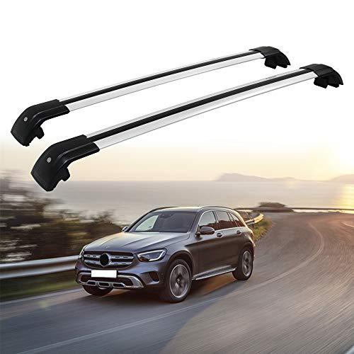 Hydraker Roof Rack Crossbars Fit for Mercedes Benz GLC X253 W253 GLC43 GLC200 GLC250 GLC300 GLC450 2016 2017 2018-Silver