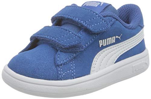 PUMA Unisex Smash V2 Sd V Inf Sneaker buty dziecięce, niebieski - Star Sapphire Puma White - 26 EU