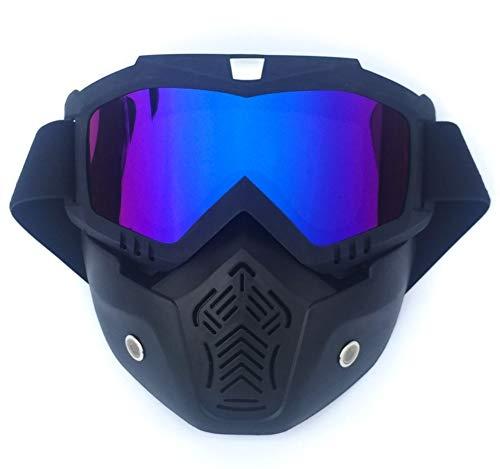 HUOFEIKE Gafas, Gafas de Moto, máscara de Bicicleta, Almohadilla Protectora, Gafas de...