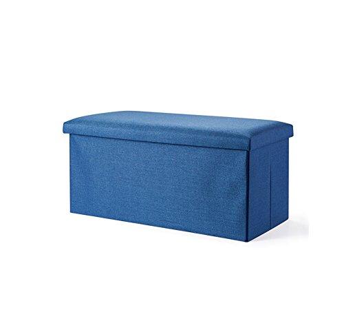 YLYDENGZ ZHDC® Sofa Hocker Rechteck Tuch Kunst Lagerung Hocker Kann sitzen Erwachsene Multifunktions Falte Lagerung Hocker Stuhl Länge 76 × Breite 38 × Höhe 38 cm Fauler Stuhl (Farbe : #5)