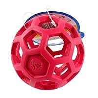 幾何ボールペットの犬のおもちゃ天然の非毒性のゴムボールのおもちゃは、小中大犬ペットトレーニング製品のためのおもちゃを噛ん (Color : Red, Size : Diameter 14 cm)