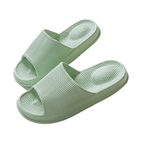 Hombres mujeres desodorante sandalias antideslizantes zapatillas masaje silencioso zapatillas de baño Zapatillas Antideslizantes Para Mujeres Para Hombres Damas Hogar Jardín Baño,Light green,37-38