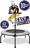 Fitness Trampolin 40 inch Mini Indoor Trampoline Rebounder für Körpertraining und Cardio Workouts...
