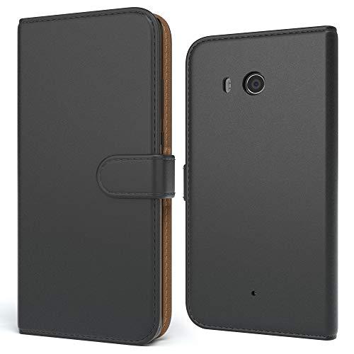 EAZY CASE Tasche kompatibel mit Xiaomi Mi Max 3 Schutzhülle mit Standfunktion Klapphülle im Bookstyle, Handytasche Handyhülle Flip Cover mit Magnetverschluss & Kartenfach, Kunstleder, Schwarz