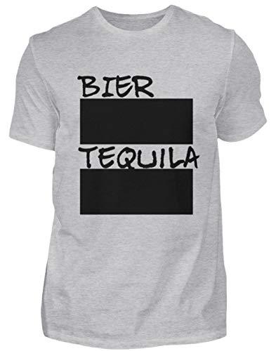 Bier en Tequila lijnlijst voor feestjes incl. 12 krijt - beschrijfbaar met krijt - heren shirt