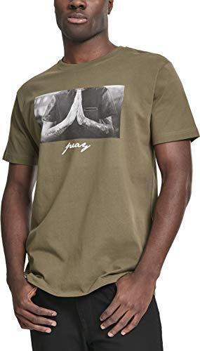 Mister Tee Herren Pray Tee T-Shirt, Olive, XL