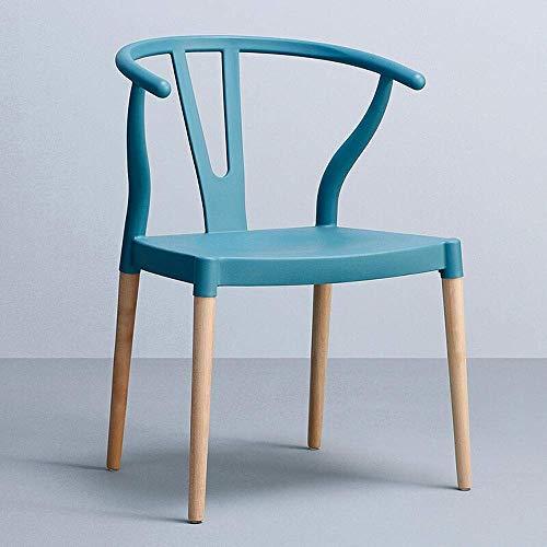 WTT Nordic Chair Modern Eenvoudige onderhandelingsstoel Kantoorstoel Vergaderstoel Koffiestoel Vrije tijd stoel voor thuis Stoel voor tuinstoel (Kleur: groen)