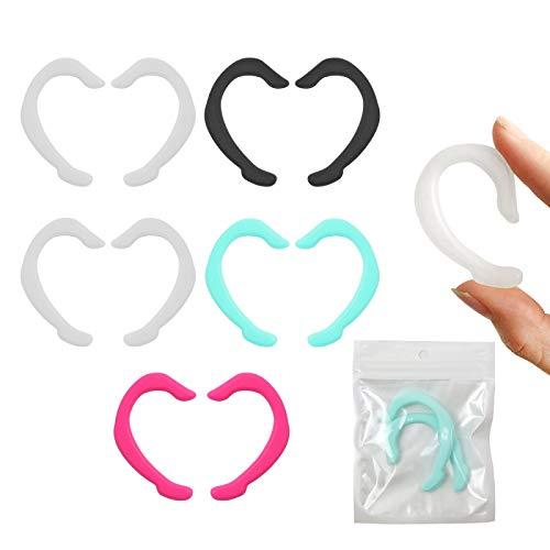 Zeaye Protectores de oídos de Silicona Reutilizables, Protectores de oídos de Colores, Protectores de Gancho para los oídos Antideslizantes (5 Piezas)