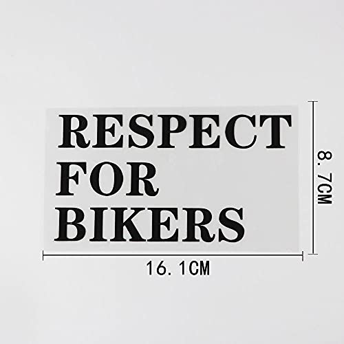 PMSMT 2 pegatinas de vinilo para coche con palabras divertidas y respeto humorístico para los ciclistas 16 1 cm x 8 7 cm, color negro