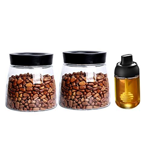 YULAN opslag potten verzegeld pot glas fles opslag koffie bonen thee pot citroen honing opbergdoos enzym met deksel voedsel kleine pot