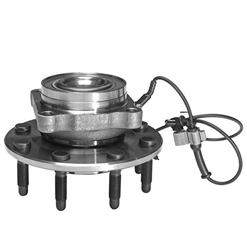 Front Wheel Hub and Bearing Assembly Compatible With Chevrolet Silverado 2500 3500 HD Suburban 2500 Hummer H2 GMC Sierra 2500 3500 HD Yukon XL 2500 AUQDD 515098 [8 Lug W/ABS]
