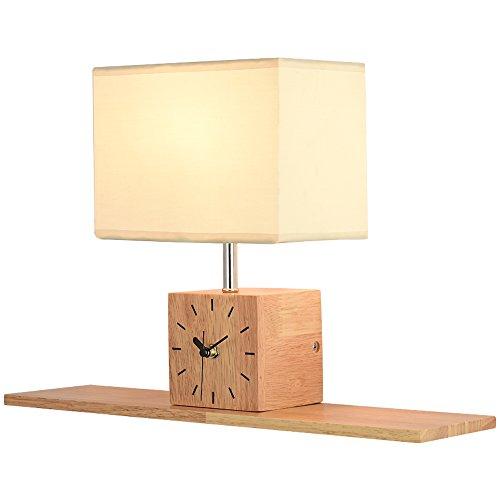 Wandleuchte, Nordic Kreative Einfachheit, Holzlampe Mit Uhr, Geeignet Für Wohnzimmer Schlafsofa Nachttischlampe Größe: 30 * 45 Cm Wandleuchte