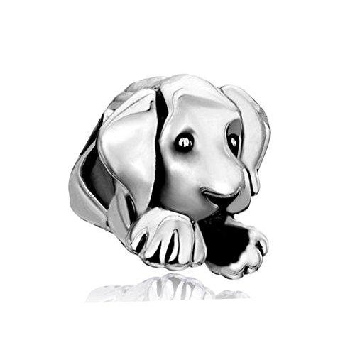 Korliya - Abalorio para pulsera de perro, plata de ley 925