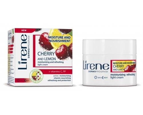 Lirene - Zitrone Acerola-Kirsche feuchtigkeitsspendende Creme (50 ml)