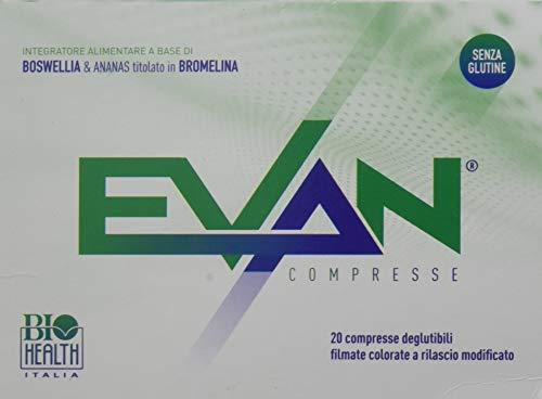 Evan di Biohealth Italia - Integratore Alimentare a Base di Boswellia e Bromelina - Confezione da 20 compresse