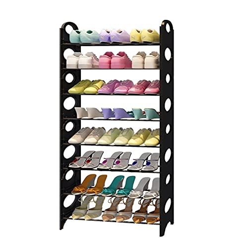 LYLY Zapatero de varias capas para zapatero de tubo de acero, organizador de almacenamiento de zapatos, torre para entrada, pasillo y zapatero (tamaño : 8 niveles)