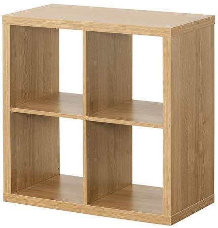 IKEA Kallax rekken, bibliotheek, perfect voor manden of dozen, 77 x 77 cm eikeneffect