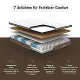 Inofia Matratze 140x200 H3 Federkernmatratze 7-Zonen Luxe Taschenfederkernmatratze Memory Foam und Taschenfederkern/Oeko-TEX® 100/Höhe 30 cm/weiß /100 Nächte Probeschlafen /10 Jahre Garantie - 4