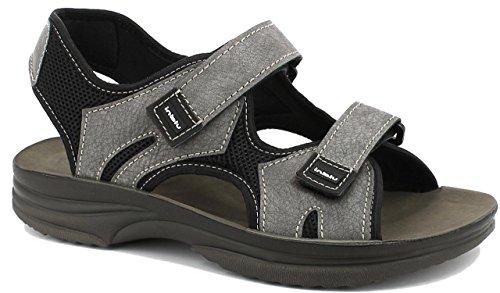 INBLU Sandalo Doppio Strappo Uomo RY25 Grigio (40 EU)