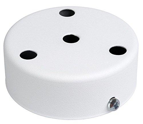 Lampen Baldachin mit Zugentlaster für 4-fach für Pendelleuchten (Weiß, 4-Fach)