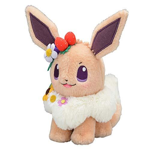eevee peluche yunding Pokemon Easter Garden Party Peluche Bambola Eevee Kawaii 18Cm Bambola Morbida Regalo per Bambini