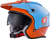 Oneal Volt Helmet Gulf Orange/Blue XL (61/62cm) Casco Moto MX-Motocross, Adultos Unisex