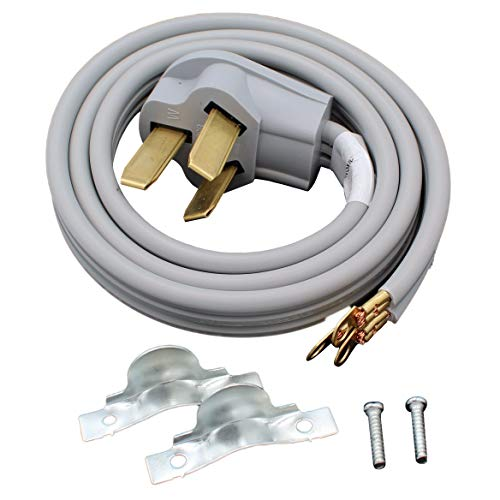 Supplying Demand 3 Wire Range Cord 40-AMP 250 Volts 10 AWG Wire Compatible With GE, Whirlpool, LG, Samsung, Frigidaire (4 Foot)