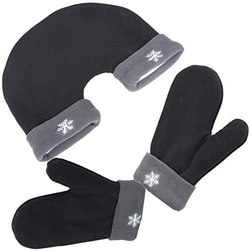 handschuhe partner Partnerhandschuhe Pärchenhandschuhe Geschenkidee für Weihnachten,Paare, Valentinstag,Verlobung,Hochzeit (one size, Rose rot)