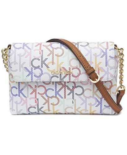 Top quality monogram PVC 1 exterior slip pocket, 2 interior zip pockets, & 1 Interior slip pocket Chain crossbody strap