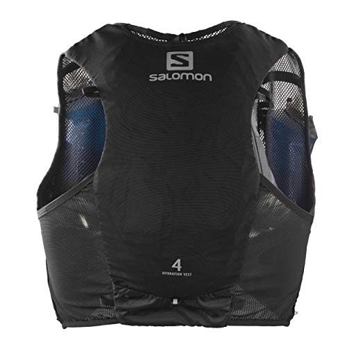 Salomon Hydration Vest, 2 Soft Flask Bottles 500 ml Included, ADV Hydra Vest, Black, Size S, LC1340800