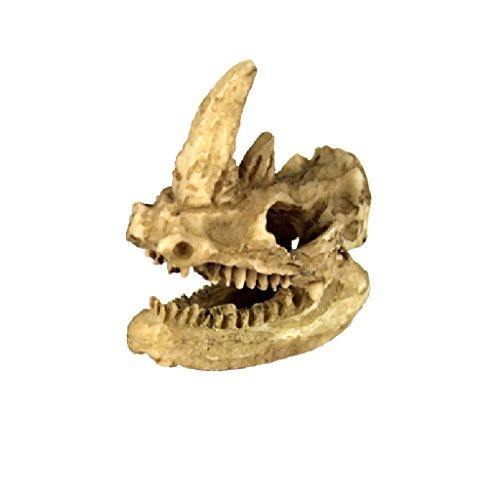 Desconocido Modelo de Reptil Vivero Ornamento Rinoceronte Cabeza Decoración Terrarios Jardinería Bricolaje