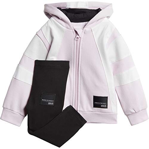 adidas Baby's Orginals EQT Hoodie Set Aero Pink/White ce4326 (Size 18M)
