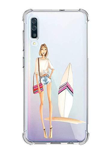 Suhctup Coque Filles Compatible pour Samsung Galaxy J5 Prime 2017,Etui [Antichoc Airbag] Transparent Silicone TPU Souple Mode Motif Crystal Housse Protection Case pour Galaxy J5 Prime 2017,Filles 3