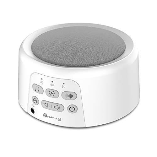 White Noise Machine, Dreamegg Rechargeable Sleep Sound Machine for Baby...