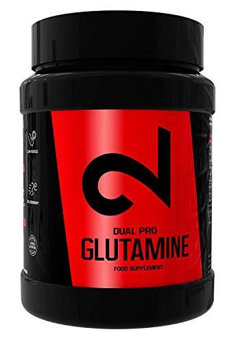 Dual Pro Glutamine | Poedervorm, 500 g | Smaakloos en gemakkelijk oplosbaar | Vrij van additieven, kunstmatige kleur- of smaakstoffen, lactose, suiker en gluten