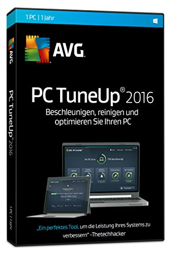 AVG TuneUp Utilities 2016 1-Platz / 1 Jahr [CD-ROM] Windows 10 / Windows 8 / Windows 7 / Windows Vista / Windows XP SP3 (DVD-Box) inkl. Update auf Version 2017