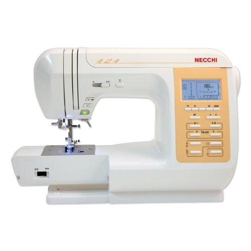 Necchi N424 Eléctrico - Máquina de Coser (Blanco, Costura, 5 mm, LCD, 7 mm, Eléctrico)