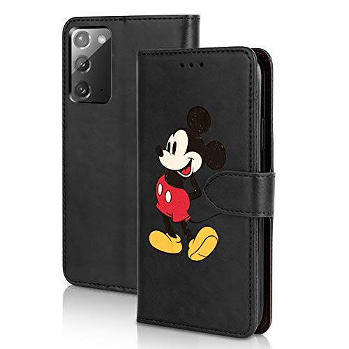 DISNEY COLLECTION Samsung Galaxy Note 20 5G Case Wallet Cute Mickey Mouse Pattern Magnetic Premium PU Leather Wallet Case with Card Holder for Samsung Galaxy Note 20 5G 2020 Release