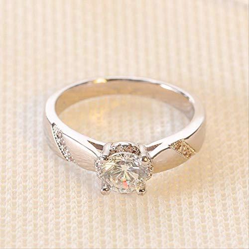 IWINO Fashion Mossan Stone Verlovingsring Vrouw Acht Hart Acht Pijl Stone Ring Hand Ornament