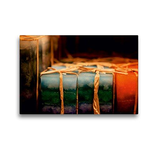 CALVENDO Premium Textil-Leinwand 45 cm x 30 cm quer EIN Motiv aus dem Kalender Christmas Geschichten aus Bremen Weihnachtsmarkt | Wandbild, Bild auf Leinwand, Leinwanddruck Orte Orte