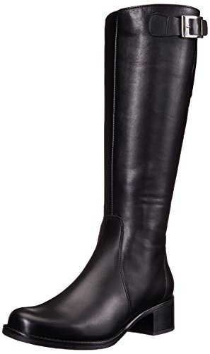 La Canadienne Poppie Black Leather 10 WW (EE)