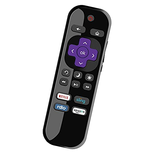 BOMAZ HTR-R01 Replacement Remote for Haier Roku TV Remote and Haier Roku Smart TV 4K LCD LED 32 39 43 49 55 inch 720p 1080p Smart TV, with Netflix Sling Rdio Amazon Channel Shortcut Keys
