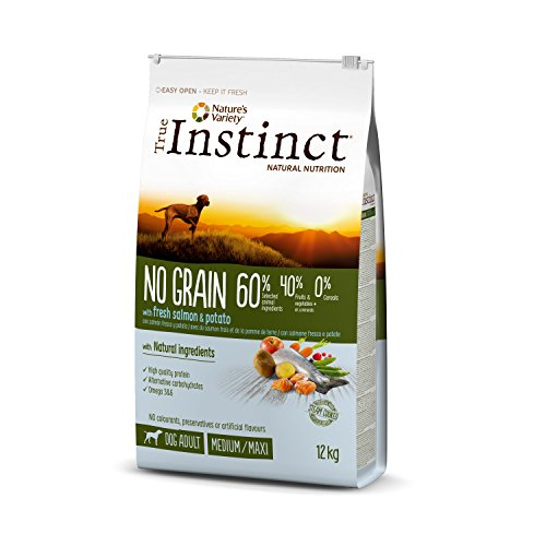 True Instinct No Grain - Nature's Variety - Pienso sin Cereales para Perro Adult Medium-Maxi con Salmón - 12kg