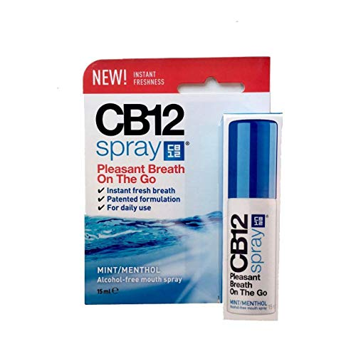 CB12 - Espray bucal de menta sin alcohol, 15 ml