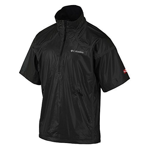 Best Price Columbia Men's Outdry Extreme Downpour Ss 1/2 Zip, Black, X-Large