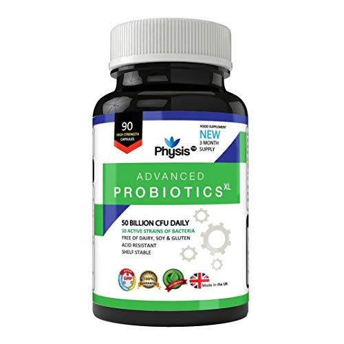 Physis Advanced Probiotics XL - 50 Billion Viable Bacterial Strains Daily