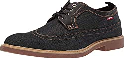 top rated Levi's tindal men's casual denim wing tip oxford shoes black 9.5m 2021